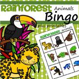 Rainforest Animals Bingo Plus Supporting Printables
