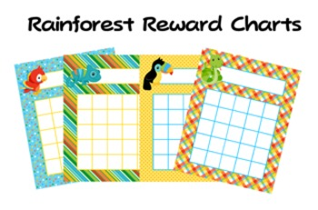 Rainforest Animals Classroom Incentive Reward Charts