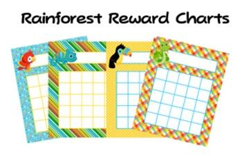 Rainforest Animals Classroom Incentive Reward Charts