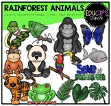 Rainforest Animals Clip Art Bundle {Educlips Clipart}