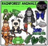 Rainforest Animals Clip Art Bundle {Educlips Clipart}