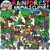 Rainforest Animals Clipart {Rainforest Clipart}