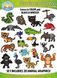 Rainforest Animals Clipart {Zip-A-Dee-Doo-Dah Designs}