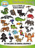 Rainforest Animals Clipart {Zip-A-Dee-Doo-Dah Designs}
