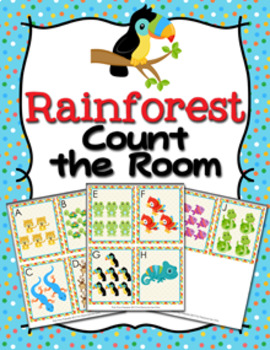 Rainforest Animals Count the Room