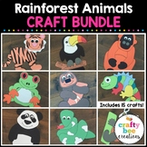 Rainforest Animals Crafts Bundle