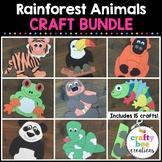 Rainforest Animals Crafts Bundle   Rainforest Activities   Sloth   Toucan