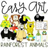 Rainforest Animals Easy Art