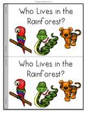 Rainforest Animals Emergent Reader