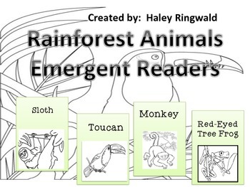 Rainforest Animals Emergent Readers
