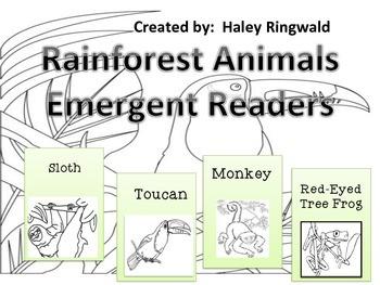 Rainforest Animals Emergent Readers