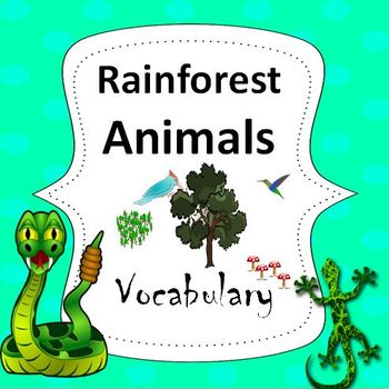 Rainforest Animals Essential Vocabulary Through Fun Activities