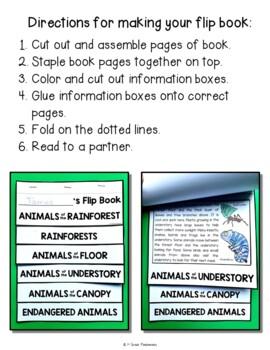 Rainforest Animals FLIP Book