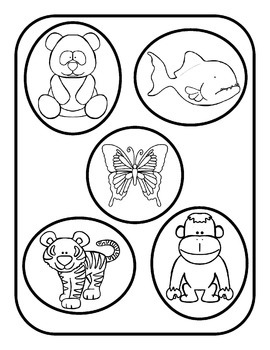 Rainforest Animals File Folder Game