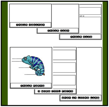Flip Books About Rainforest Animals for Information Writing and Research Reports