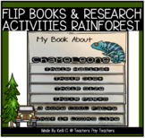 Rainforest Animals Research Project and Flip Books