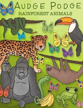 Rainforest Animals Graphic Pack