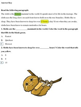 Rainforest Animals: High Interest Reading Comprehension Activities