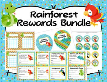 Rainforest Animals Incentive Rewards Bundle