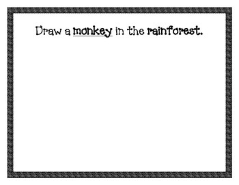Rainforest Animals Informative Writing