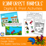 Rainforest Animals Mini Books