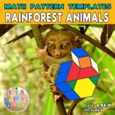 Rainforest Animals |  Printable Math Pattern Block Templates
