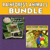 Rainforest Animals Printable Puzzles & Math Blocks Pattern