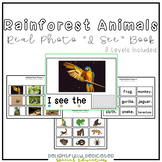 "Rainforest Animals Real Photo ""I See"" Book for Special Education Classrooms"