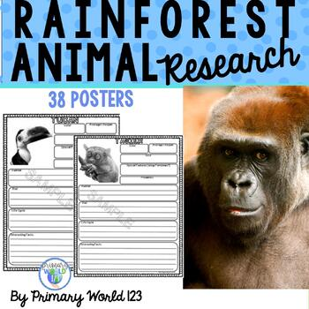Rainforest Animals Research Report Writing Project Common Core