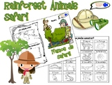 Rainforest Animals Safari Activity for Spanish Students!