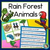 Rainforest Animals Literacy Center: reading, writing & printables