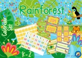 Rainforest Animals Themed Calendar Set