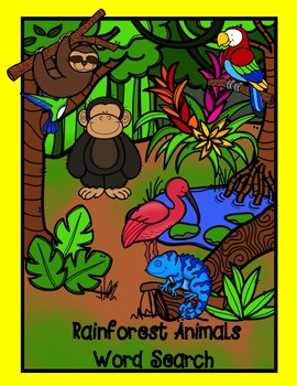 Rainforest Animals Word Search