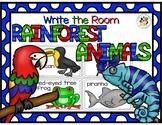 Rainforest Animals Write the Room