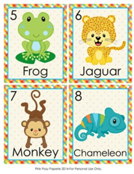 Rainforest Animals Write the Room Activity