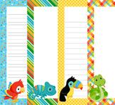 Rainforest Animals Writing Paper - 3 Styles - 4 Designs