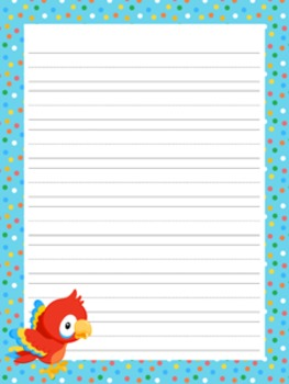 Rainforest Animals Writing Paper - 3 Styles - 4 Designs