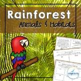 Rainforest Animals and Habitat Unit