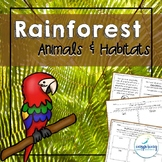 Rainforest Animals and Habitat Unit