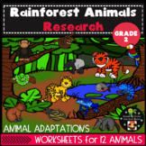 Rainforest Animals and Habitat Research Second Grade