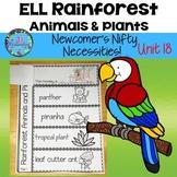 Animal Habitats First Grade-Fifth Grade,& K Rainforest Animals & Plants ESL ELL