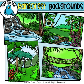 rainforest background scenes clip art chirp graphics by chirp graphics