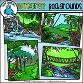 Rainforest Background Scenes Clip Art - Chirp Graphics