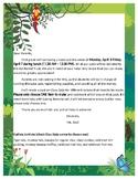 Rainforest Bake Sale Letter Home to Parents
