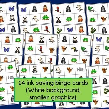 Rainforest Animal Bingo