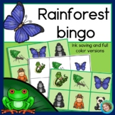 Rainforest Animal Bingo