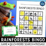 Rainforest Habitats Bingo