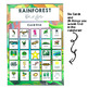 Rainforest Bingo Game