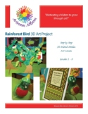 Rainforest Bird 3D Art Project