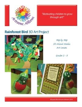 Rainforest Bird Gourd Art